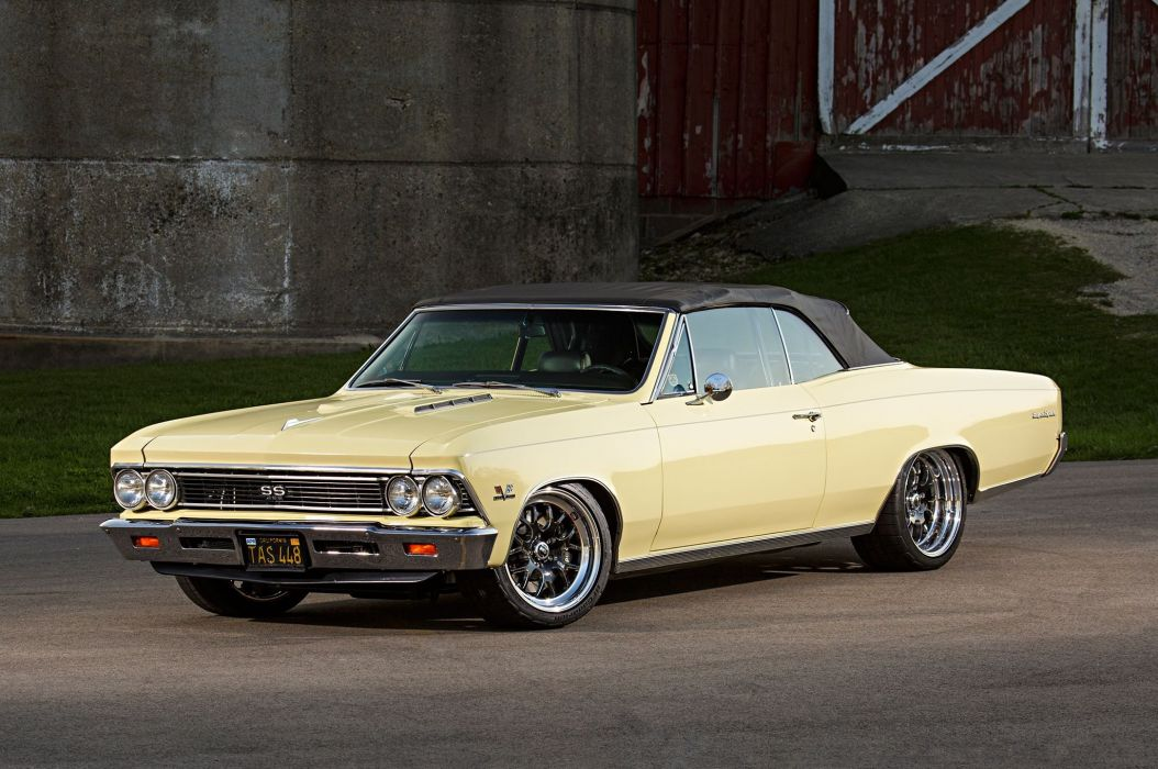 1966 Chevrolet Chevy Chevelle Convertible Super Street Pro Touring Low USA -05 wallpaper