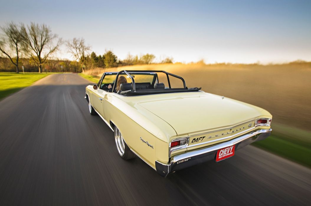 1966 Chevrolet Chevy Chevelle Convertible Super Street Pro Touring Low USA -09 wallpaper