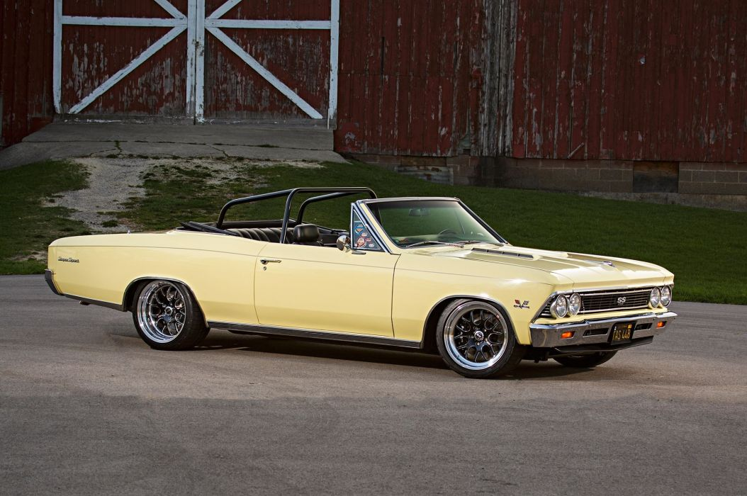 1966 Chevrolet Chevy Chevelle Convertible Super Street Pro Touring Low USA -07 wallpaper