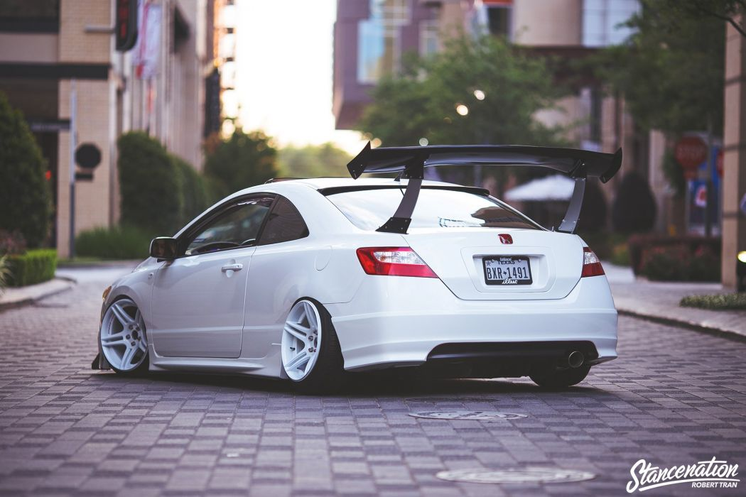 HONDA CIVIC 2006 cars coupe white modified wallpaper