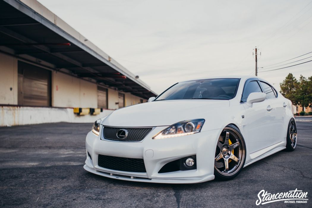 LEXUS IS-F cars sedan white modified wallpaper
