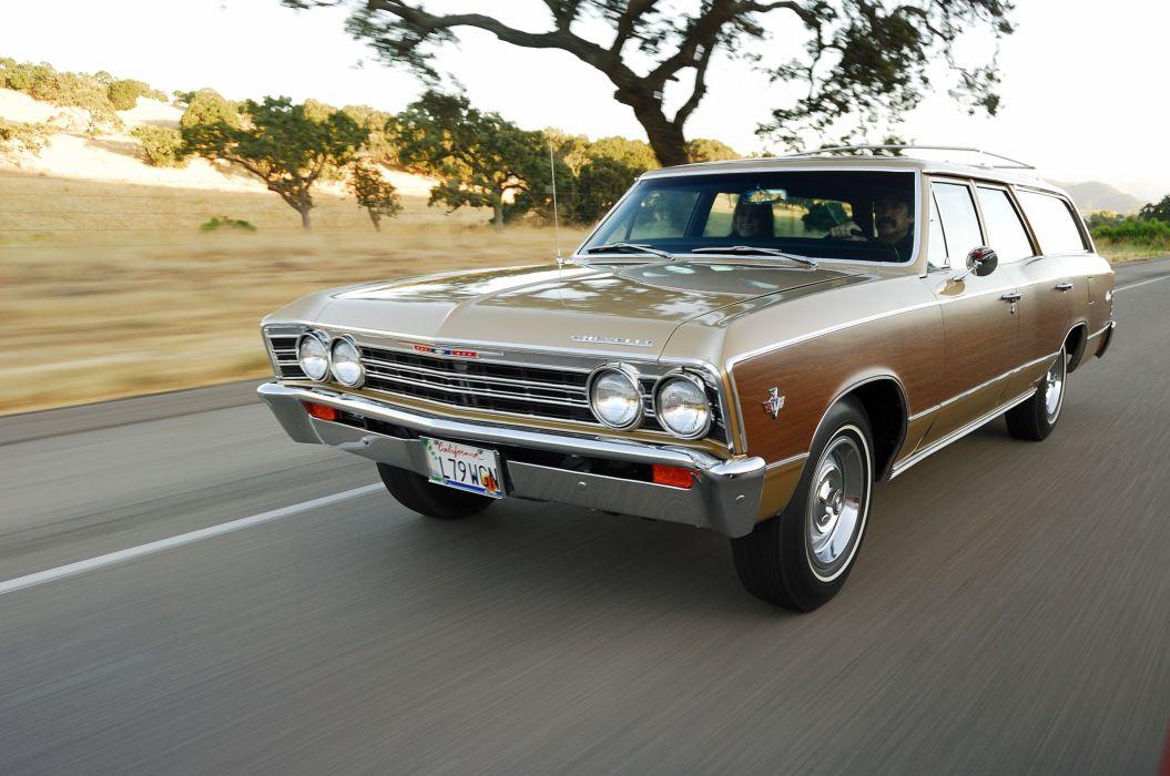 1967 Chevrolet Chevelle Malibu SS Wagon USA -01 wallpaper