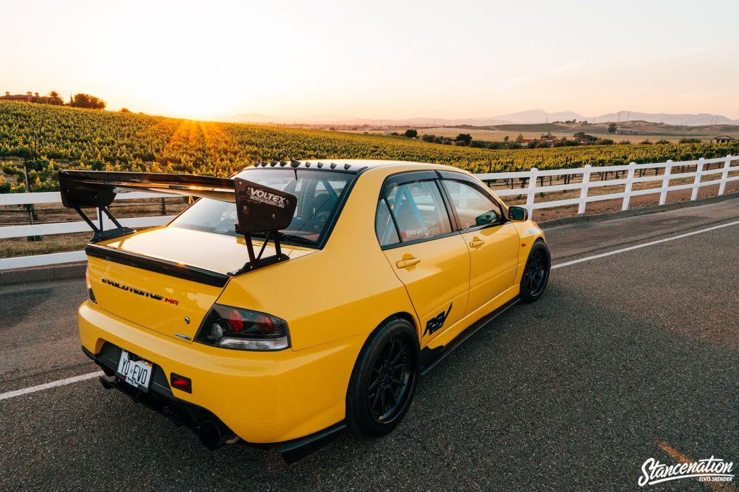 Mitsubishi lancer evo VIII cars sedan modified wallpaper