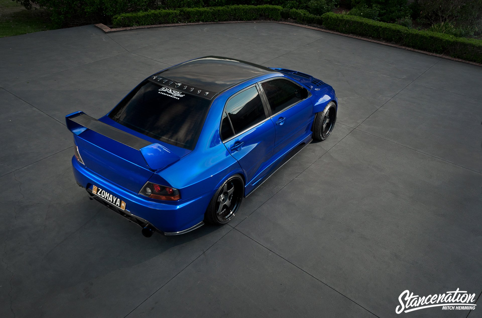 mitsubishi lancer evo ix blue cars sedan modified wallpaper 1920x1266 812916 wallpaperup - Mitsubishi Evo 9 Blue