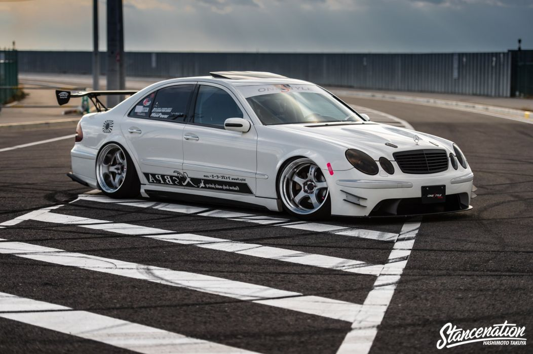 MERCEDES E-class sedan cars modified wallpaper