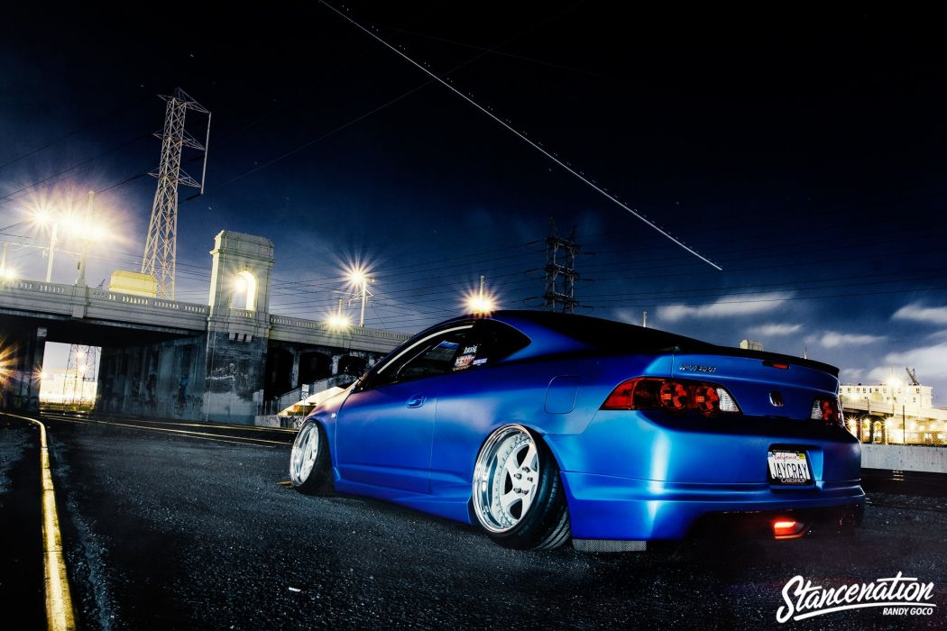 ACURA RSX coupe blue cars modified wallpaper
