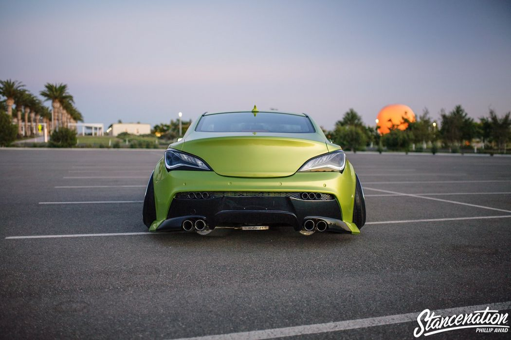 HYUNDAI GENESIS COUPE green cars modified wallpaper