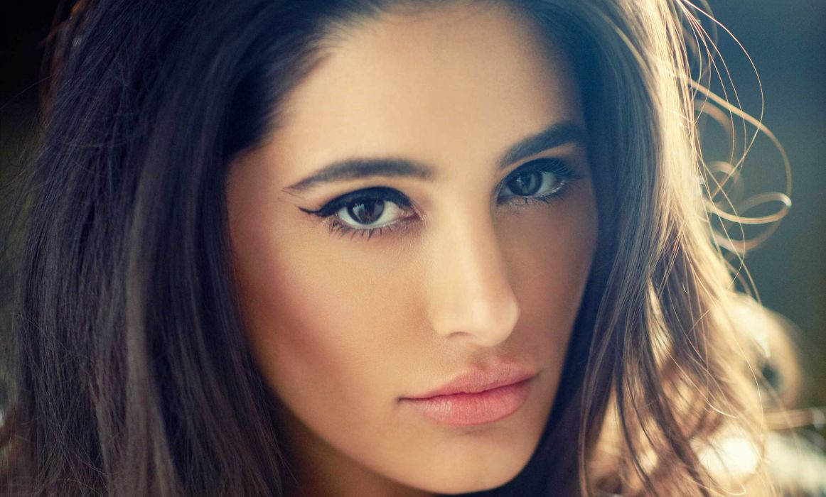 nargis fakhri bollywood actress model girl beautiful brunette pretty cute beauty sexy hot pose face eyes hair lips smile figure indian  wallpaper