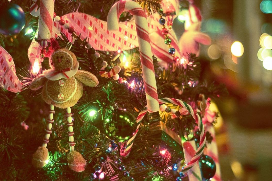 christmas tree lights background- wallpaper