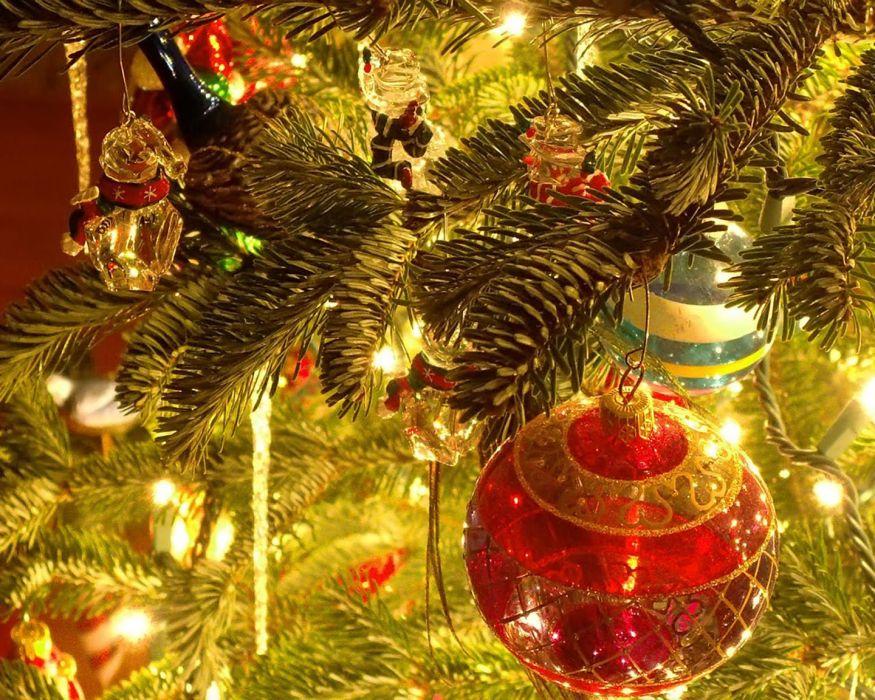 christmas tree lights beauty wallpaper