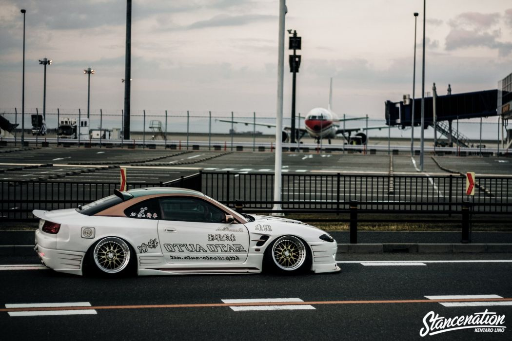 NISSAN SILVIA S15 white coupe cars modified wallpaper