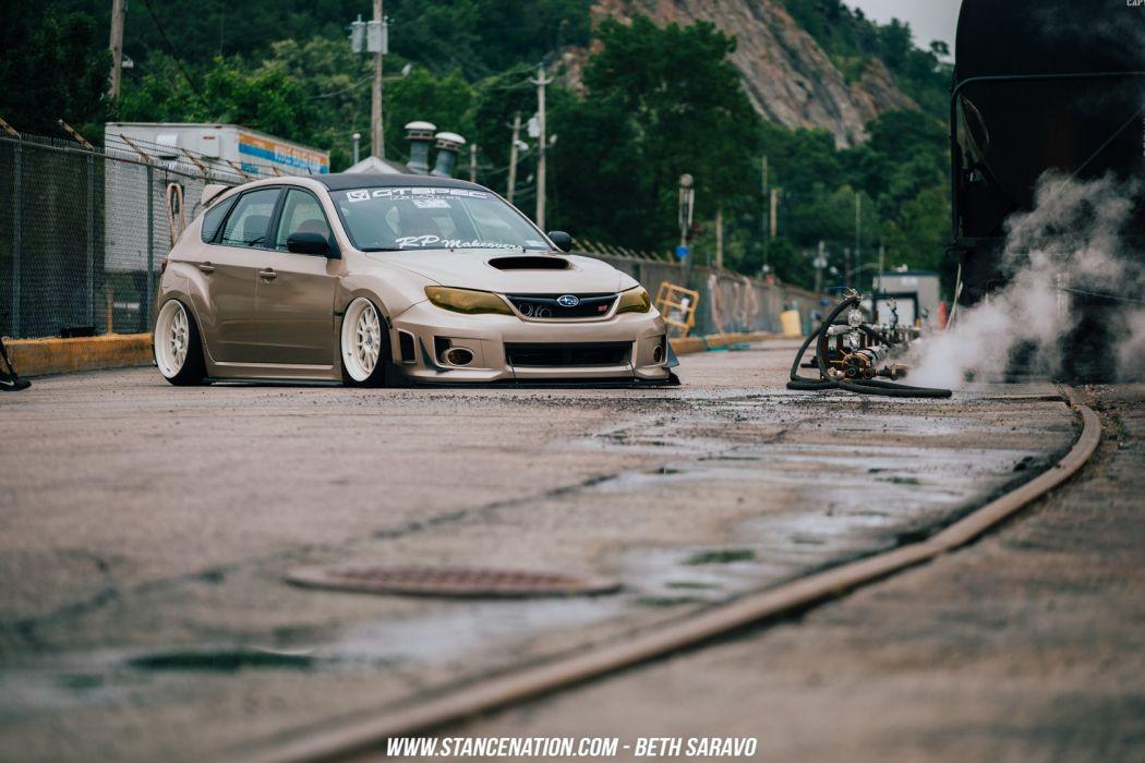 subaru STI HATCH coupe cars modified wallpaper