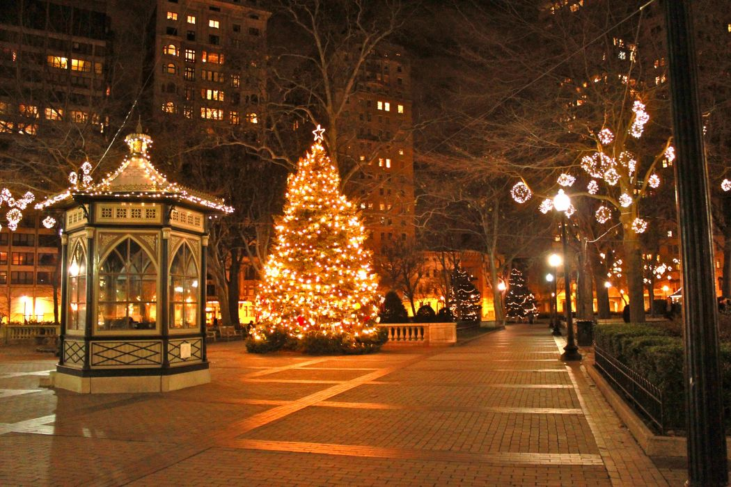 Christmas Photography Backgrounds city lights street beauty wallpaper
