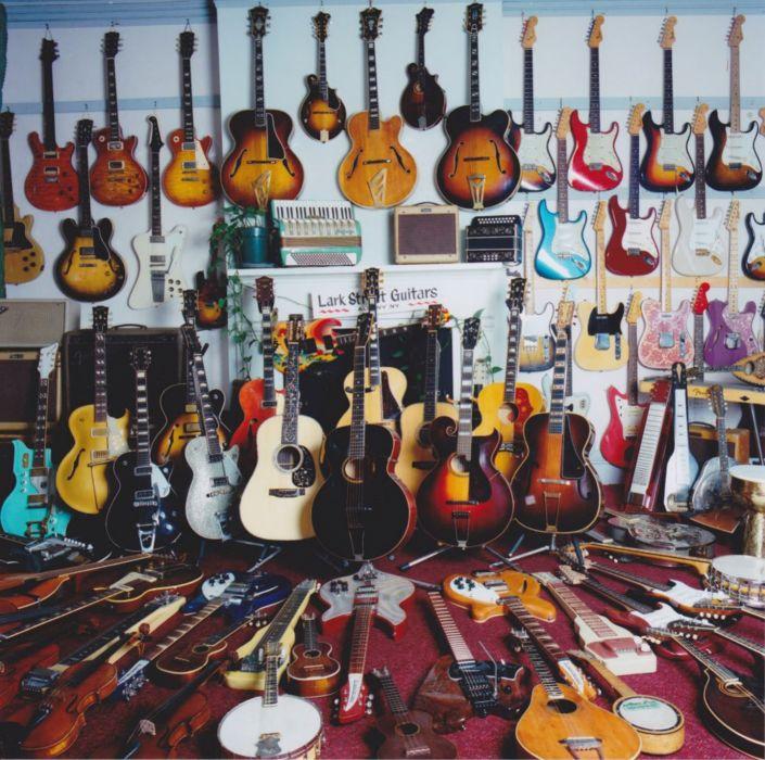 guitar musical instrument beauty shop wallpaper