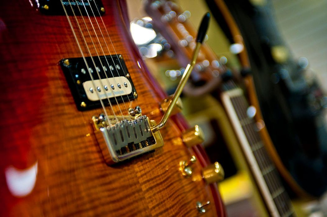 guitar musical instrument beauty shop wallpaper