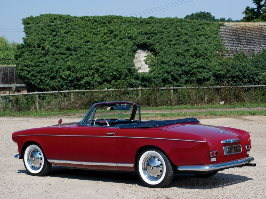 BMW 503 Cabriolet Series II 1958 cars red classic wallpaper