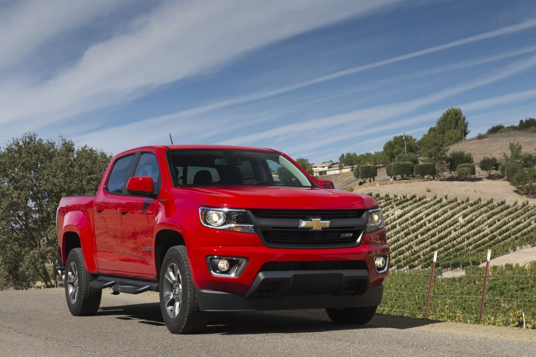 2016 Chevrolet Colorado pickup Z71 Crew Cab Duramax Diesel cars truck red wallpaper
