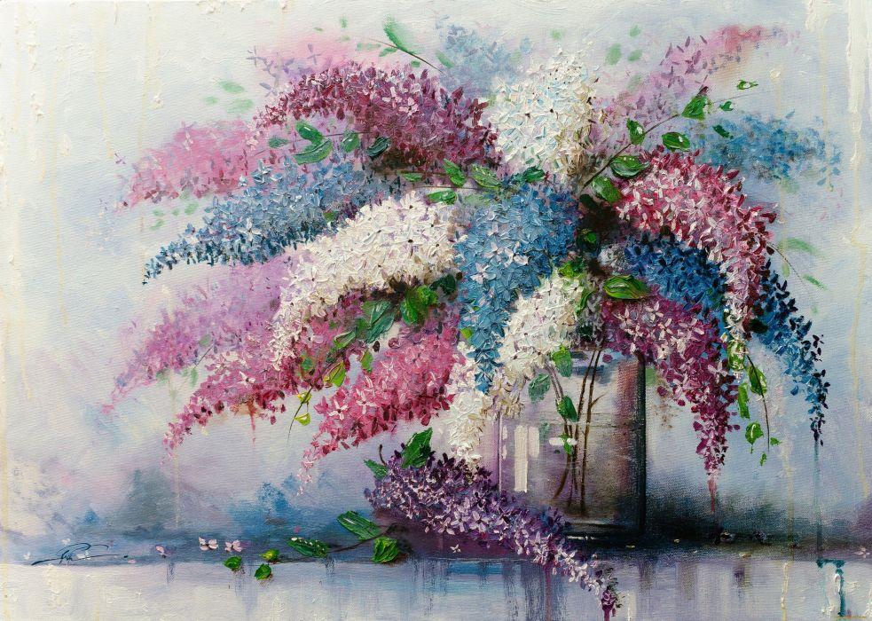flower art painting beauty wallpaper