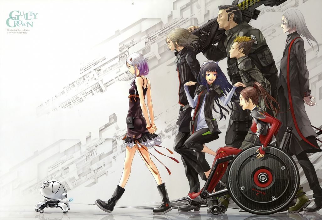 anime group series guilty crown wallpaper