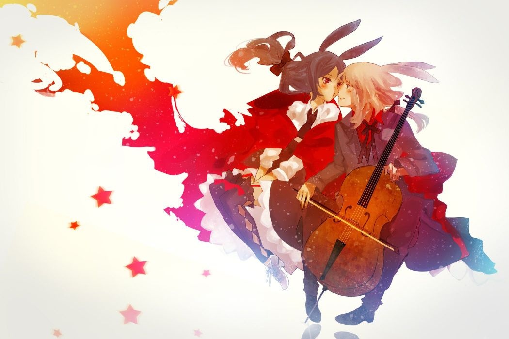 anime girl beauty beautiful long hair couple music star wallpaper