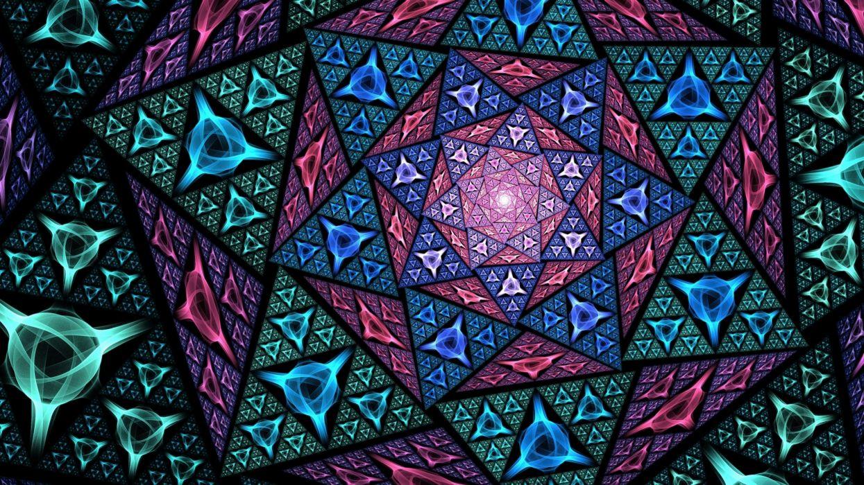 abstracto fractal mosaico wallpaper