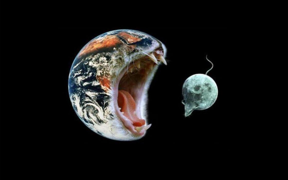 tierra come luna abstracto humor wallpaper