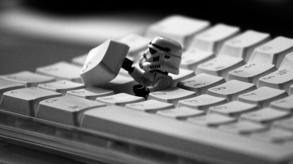 abstracto humos soldado lego teclado wallpaper