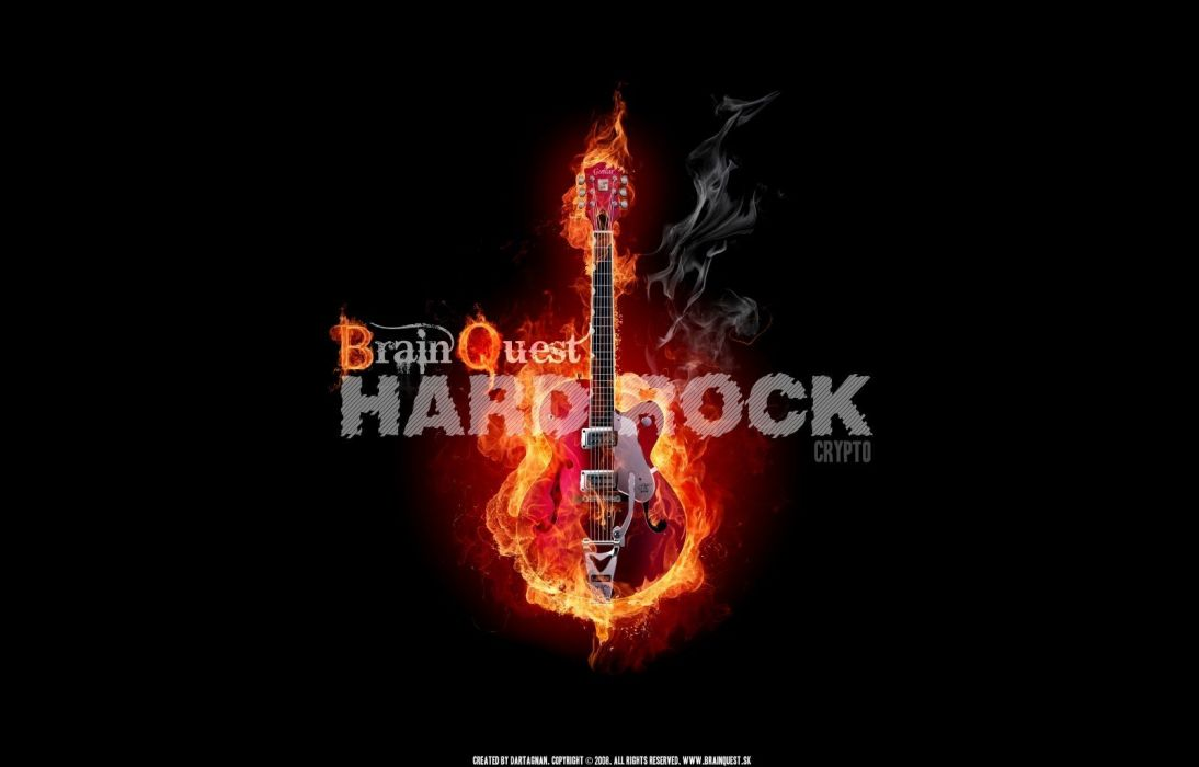 HARD ROCK sign heavy metal poster music guitar wallpaper