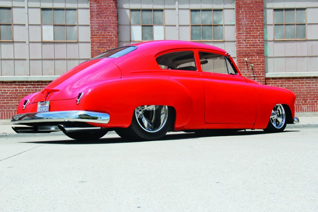 1950 Chevrolet Fleetline hot rod rods custom retro wallpaper