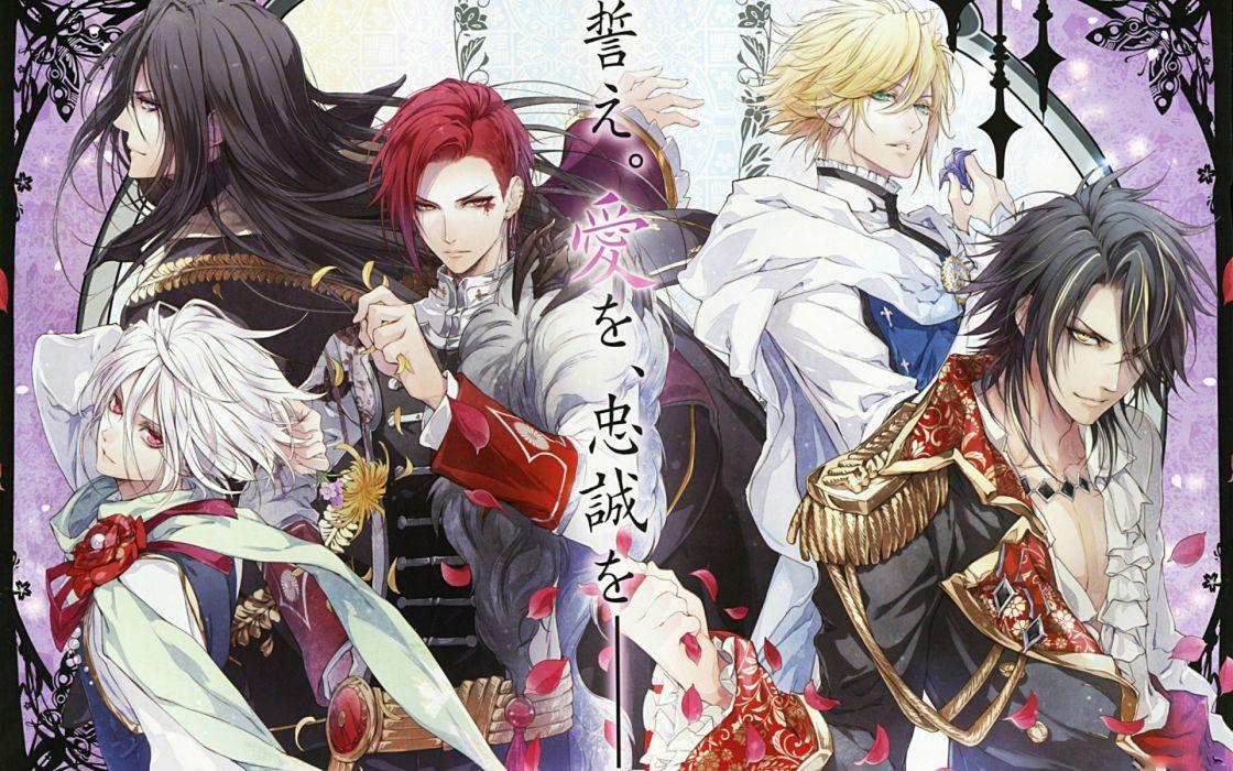 Reine des Fleurss anime game character flower group wallpaper
