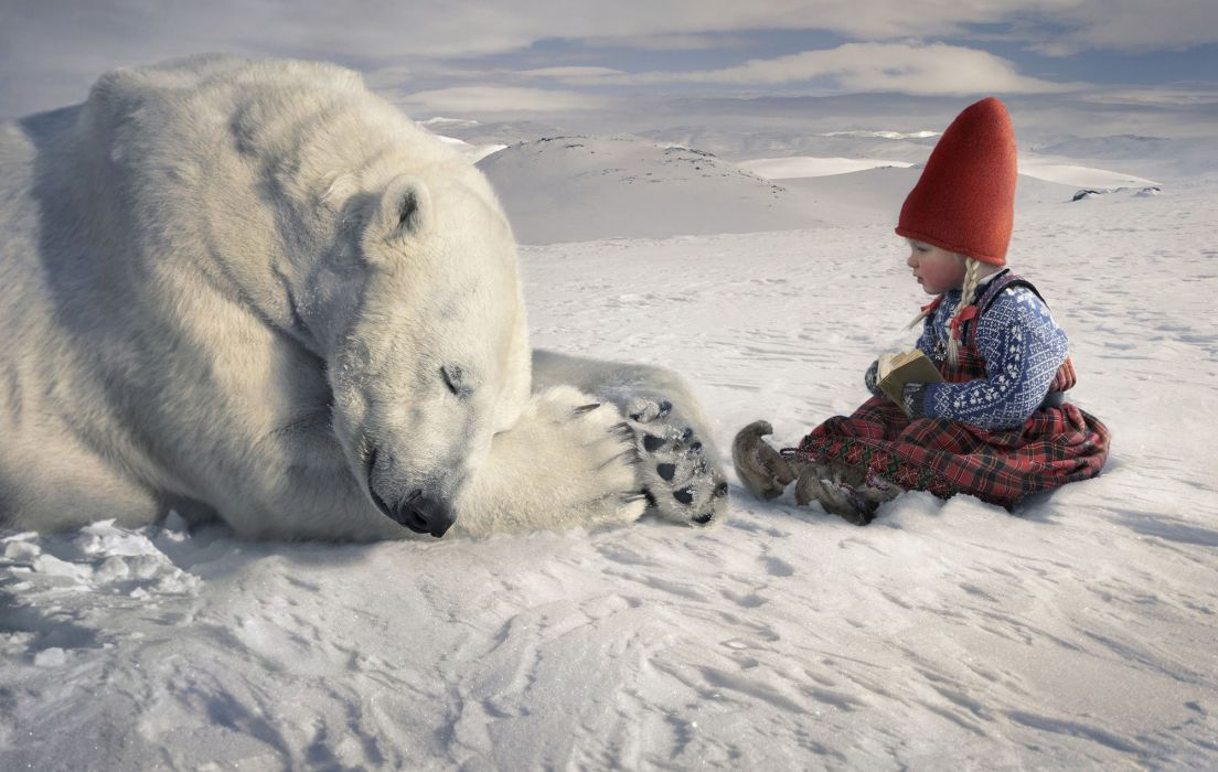children beauty beautiful angel cute polar bear wallpaper