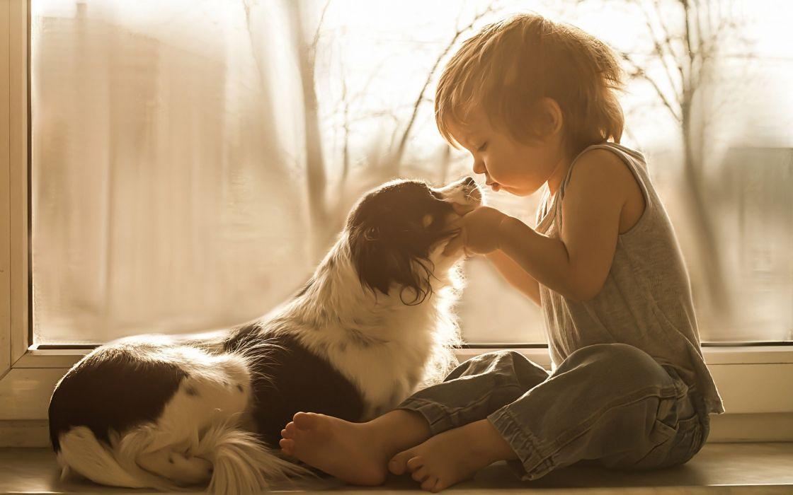 children beauty beautiful angel cute love dog animal boy wallpaper