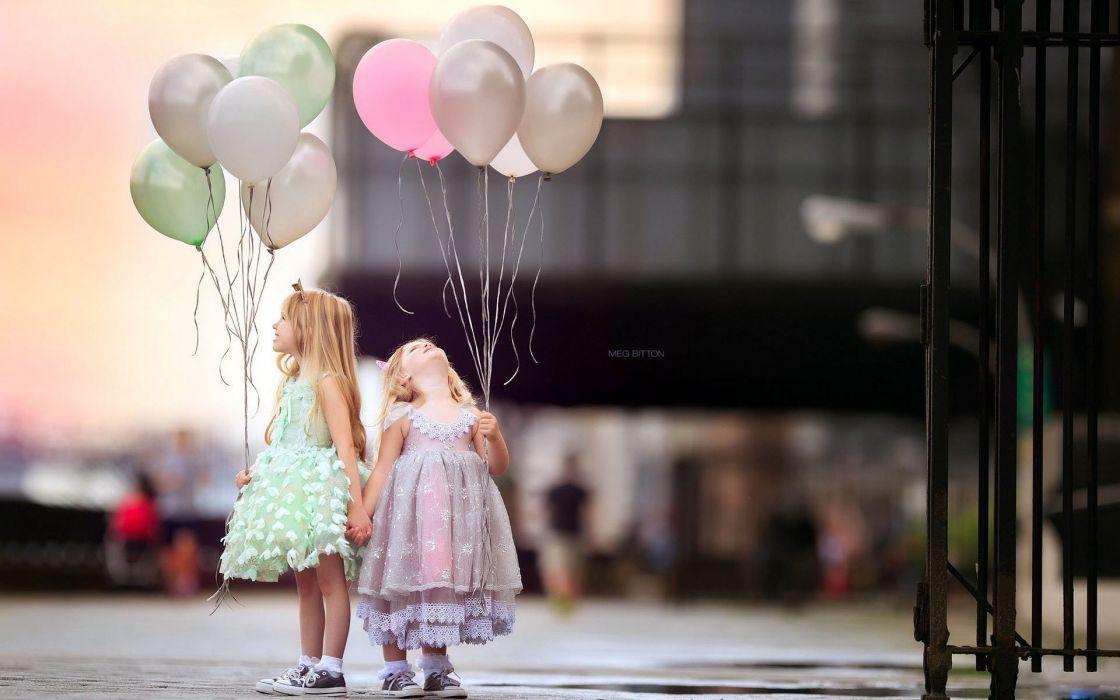 children beauty beautiful angel cute balloons dress girls wallpaper