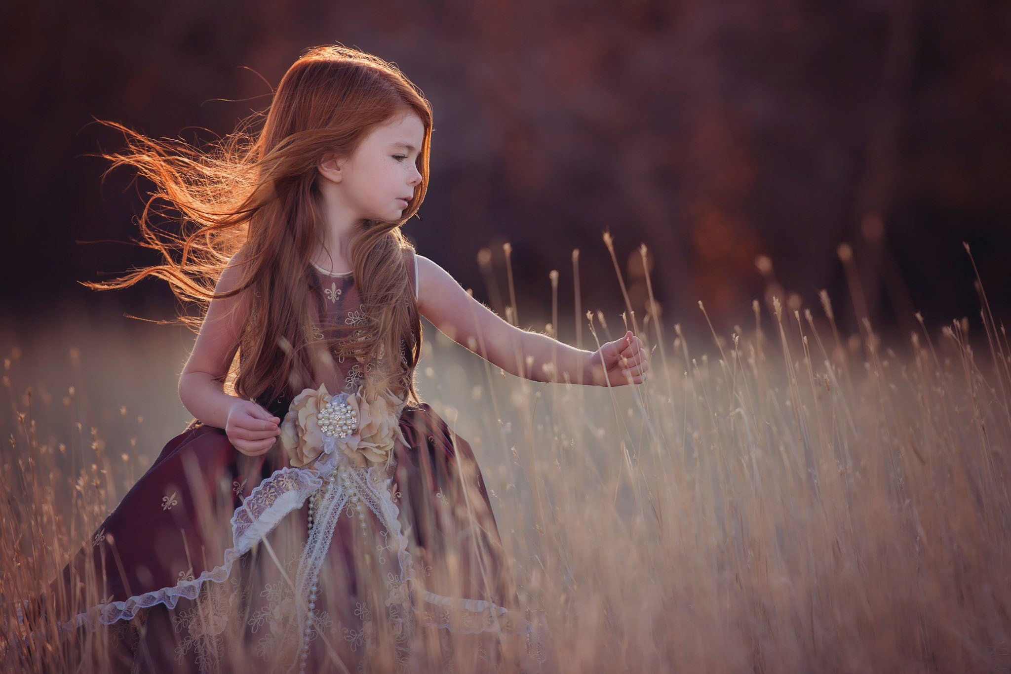 children beauty beautiful angel cute girl long hair wallpaper
