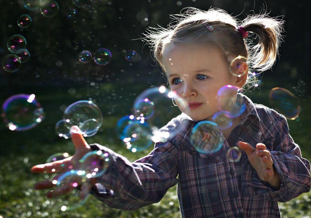 children beauty beautiful angel cute girl bubble wallpaper