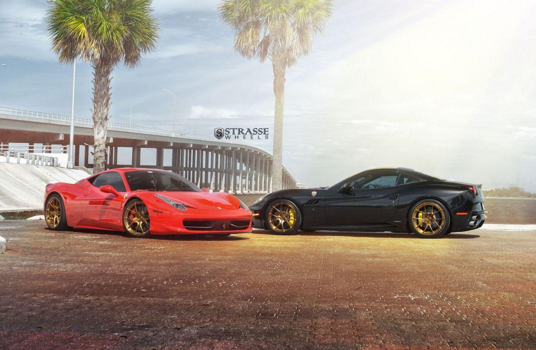 strasse Wheels Ferrari 458 Italia california cars wallpaper