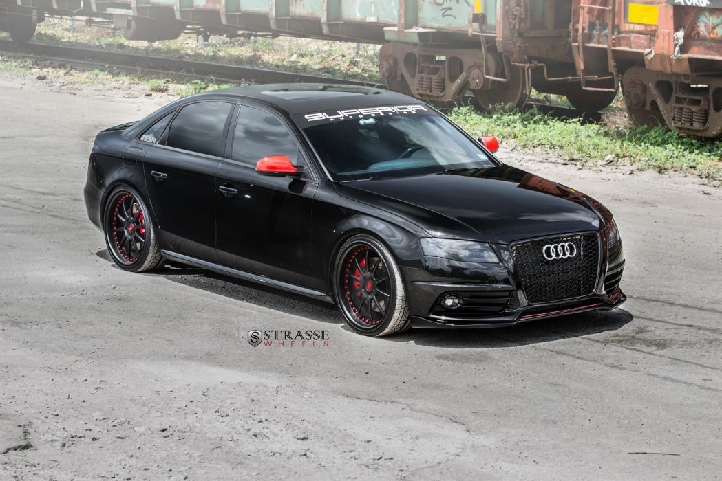 strasse Wheels Audi-S4 sedan black cars wallpaper