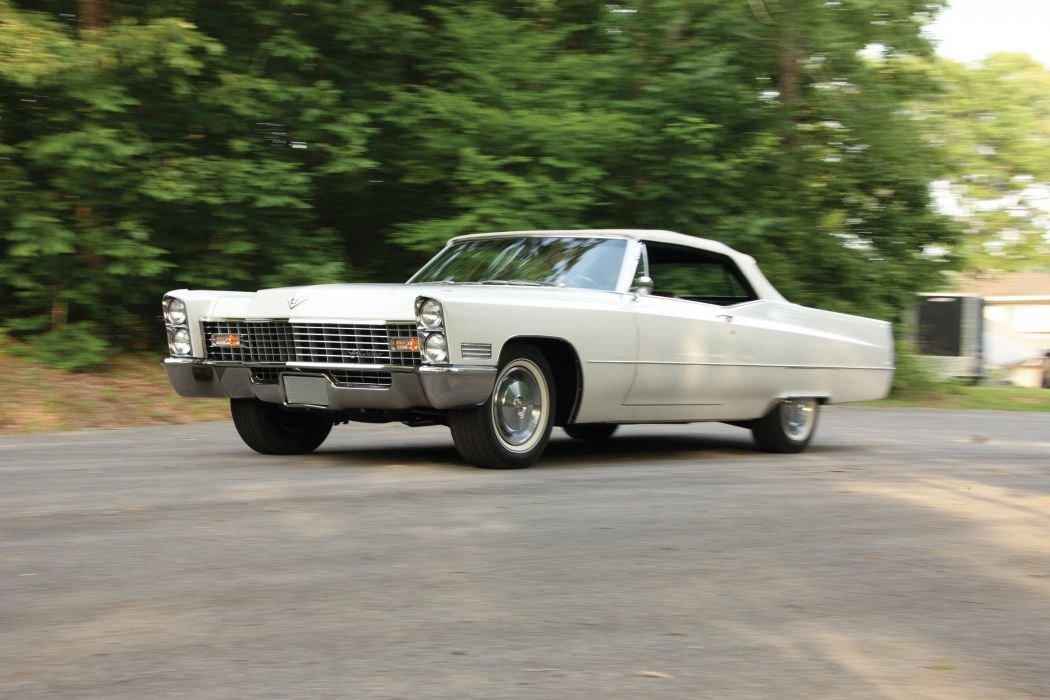 1967 Cadillac DeVille Convertible 68367-F luxury classic wallpaper