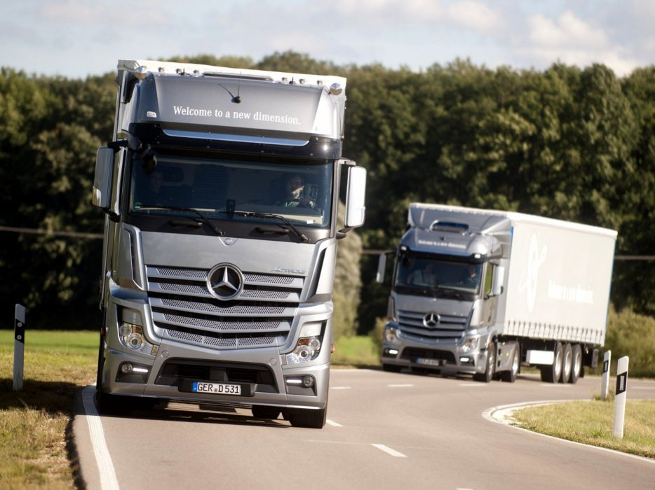 2011 Mercedes Benz Actros 1845 L-S MP4 semi tractor transport wallpaper