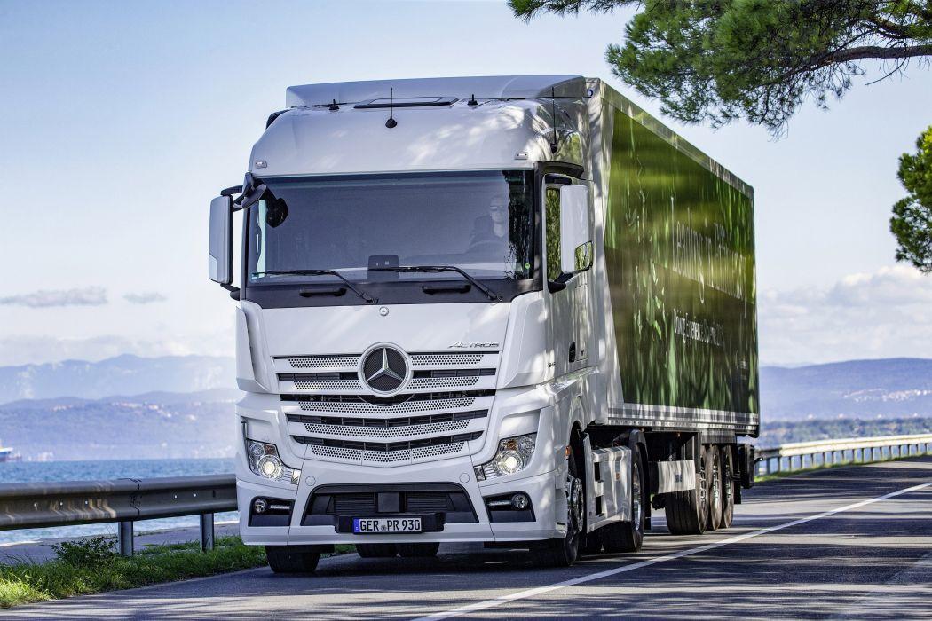 2011 Mercedes Benz Actros 1845 L-S MP4 semi tractor transport wallpaper