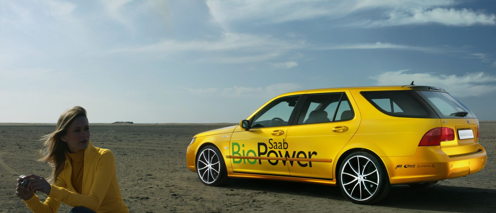 2007 Rinspeed Saab 9-5 BioPower Concept stationwagon wallpaper