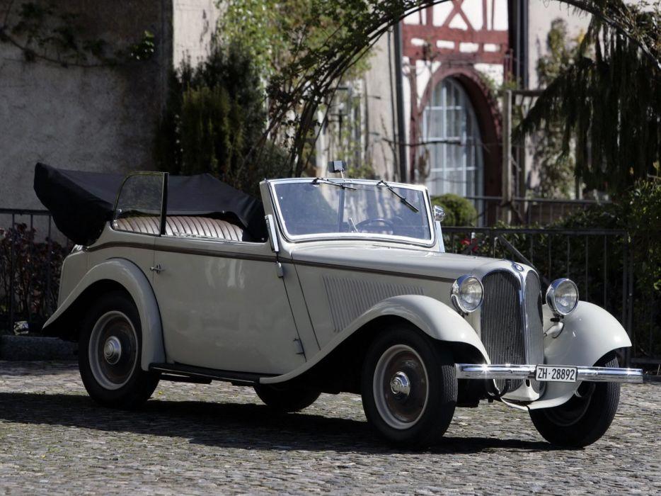 1934 BMW 303 Kabriolett 4-sitzig vintage retro wallpaper