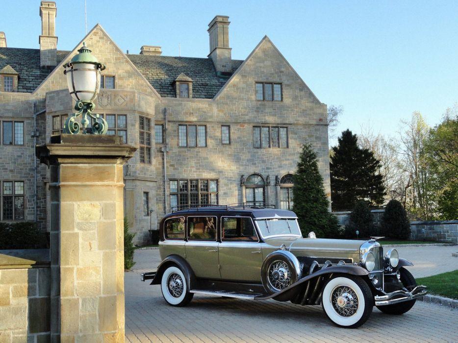 1934 Duesenberg S-J 5142543 7-passenger Limousine LWB Rollston luxury vintage wallpaper