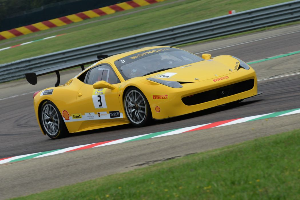 Ferrari 458 Challenge Evoluzione supercar race racing wallpaper