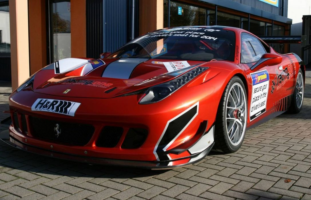 Ferrari 458 Challenge Evoluzione supercar race racing wallpaper