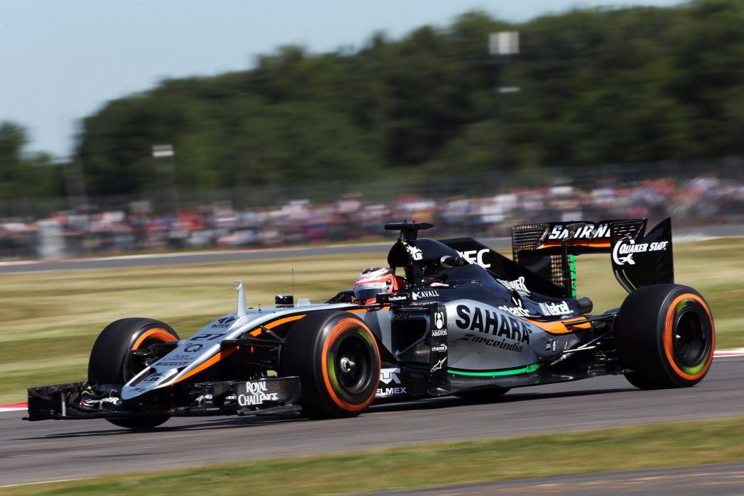 2015 Force India VJM08B F-1 formula race racing wallpaper