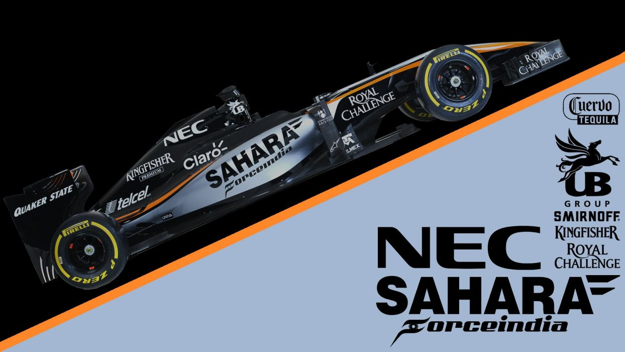 2015 Force India VJM08B F-1 formula race racing wallpaper