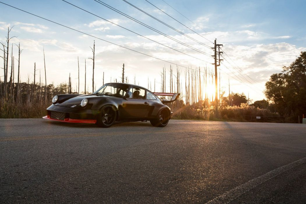 Modified Porsche 930 Turbo cars coupe black bodykit wallpaper