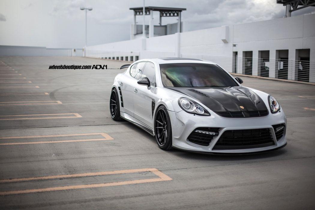 Porsche Panamera Turbo Mansory Widebody cars adv1 wheels wallpaper