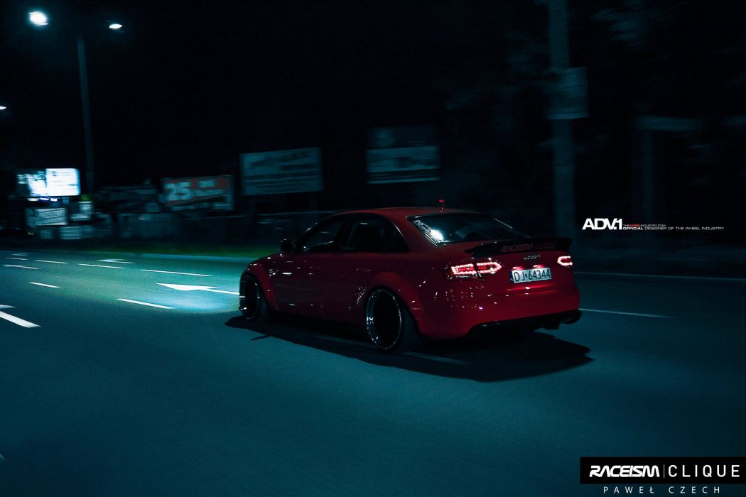 AUDI-A4 Widebody cars sedan red adv1 wheels wallpaper